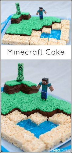 How to make a Minecraft birthday cake from And Next Comes L