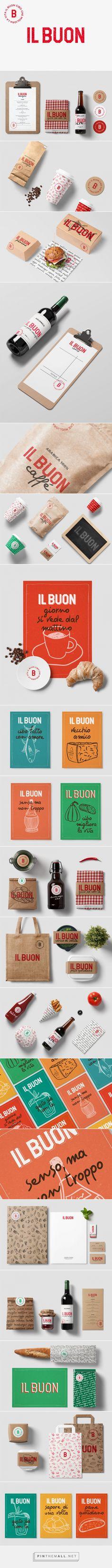 Logo e Branding Ristorante Il BUON | Bocanegra Design Studio  bocanegrastudio.com  #branding #identity #brandidentity #logodesign #logo #naming #graphicdesign #restaurantbranding