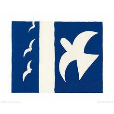 affiche Oiseau 1955 l.50xH.40 cm