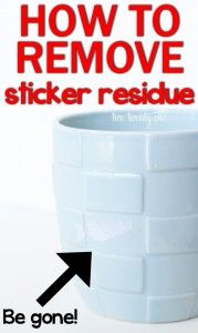 Helpful tip  How to Remove Sticker Residue