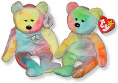 From the hot phenomena of the to the still popular plush toys, Beanie Babies still have fans and collectors. Here are some resources and facts. Peace Beanie Baby, Beanie Babies Value, Nerds Rope, Kickin It Old School, Ty Babies, Baby Queen, Niece Birthday, Boyds Bears, Teddy Bears