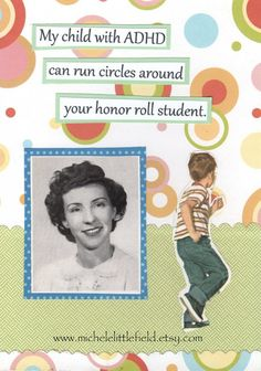 ADHD Funny Greeting Card. $3.25, via Etsy.