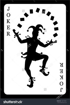 Joker Card. Vector Background. - 146773091 : Shutterstock