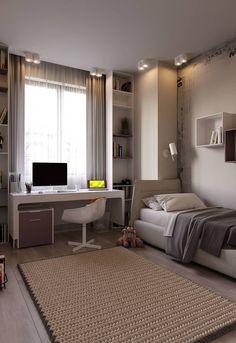 Small room design – Home Decor Interior Designs Room Design Bedroom, Girl Bedroom Designs, Room Ideas Bedroom, Home Room Design, Small Room Bedroom, Office Room Ideas, Guest Room Office, Bedroom Office, Bedroom Decor