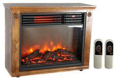LifeSmart LifePro LS 1111HH Infrared Quartz Electric Portable Fireplace  Heater