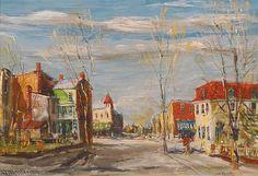 Arbres de ressort, Manayunk de Walter Emerson Baum (1884-1956, United States)