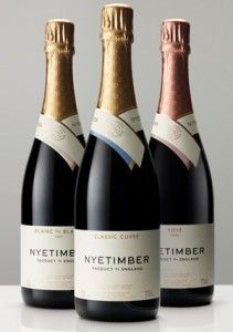 Nyetimber - the classic cuvée - blue is lovely.