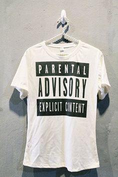 1184719341df Parental Advisory Shirt Punk Rock T-Shirts Hip Hop Women Off White Size M  ( 14.99) - Svpply