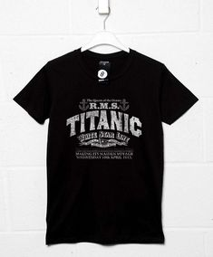 Inspired By Titanic T Shirt - Vintage Advert - Black / Small