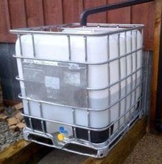 Les Bacs récupérateurs d'eaux de pluie !