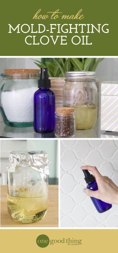 Learn how to make an easy and natural clove oil spray that will help you kill and remove mold spots from your tub or shower.