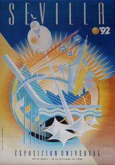 1992  Expo '92 of Sevilla/The Universal by OutofCopenhagen on Etsy