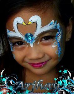 Swan princess face paint idea.