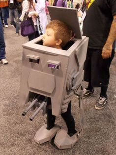 Awesome AT-ST walker costume!
