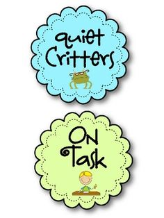 Quiet critters and quiet spray freebies