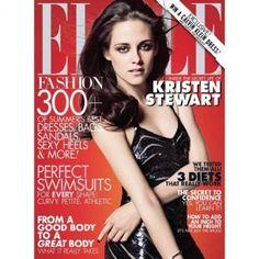 Kristen Stewart ✾ ELLE magazine June 2012 - dress by Ralph Lauren Kristen Stewart, V Magazine, Magazine Covers, Digital Magazine, Magazine Design, Vanity Fair, Cosmopolitan, Marie Claire, Sils Maria