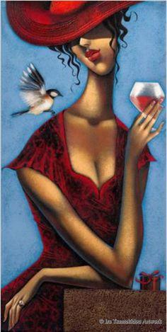 Rose D´Anjou II by Ira Tsantekidou. (Serie La Femme Fatale).