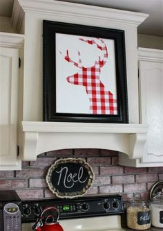 Brilliant for all you DIY Christmas decorators. I love this homemade 2015 white & red check...frame it and use every year !  Decor Ideas You Must