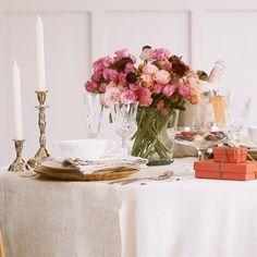 Cómo poner una mesa muy romántica