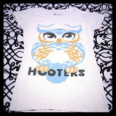 Hooters shirt Super cute owl on front, very comfortable. Says size small but fits more like a medium. Tops