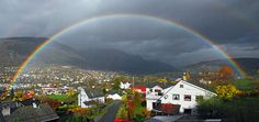 Rainbow over Voss, Norway
