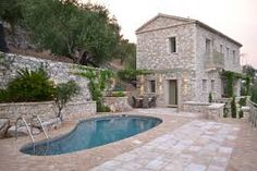 Image result for terraced garden stone greece