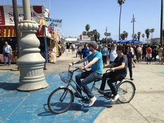The Wanted's Tom Parker And Jay McGuiness Ride A Tandem Bike In Los Angeles