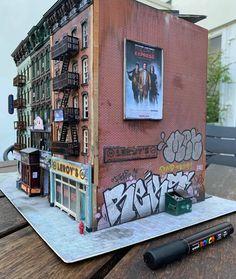 Scale Models, Vignettes, Graffiti, Street Art, Miniatures, Instagram, Dioramas, Graffiti Illustrations, Mockup