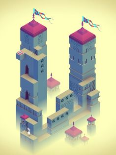 Monument Valley Game  https://itunes.apple.com/gb/app/monument-valley/id728293409?mt=8 #Escher #impossibleobjects #mathart