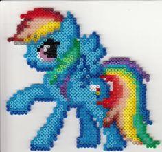 Rainbow Dash perler beads by rphb on deviantart