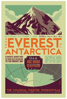"""""""everest to antarctica"""" poster by *strongstuff on deviantART"""