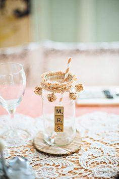 scrabble letter mrs mason jar