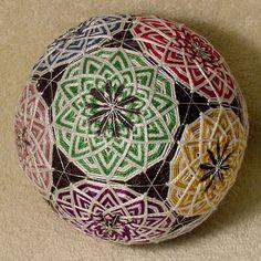 Japanese Temari Ball by BethsTemariBalls on Etsy