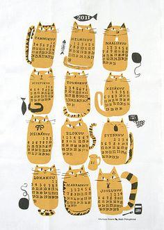 Kauniste Calendar Poster 2011 by Matti Pikkujämsä