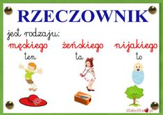 rzeczownik Polish Language, Education, School, Kids, Anna, Speech Language Therapy, Preschool, Polish, Children