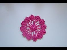 How to Crochet a doily  coaster motif lace tutorial  diy mantilla simple...