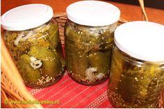 Castraveti dulci-acrisori pentru iarna Celery, Preserves, Pickles, Cucumber, Diy And Crafts, Mason Jars, Frozen, Food And Drink, Canning