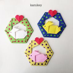 "304 Likes, 10 Comments - kamikey カミキィ (@kamikey_origami) on Instagram: ""横向きシルエットのうさぎさん、立てても平面にも使えます 「おすわりうさぎ」折り方はYouTube"" kamikey origami""チャンネルにて。 Rabbit designed by…"""