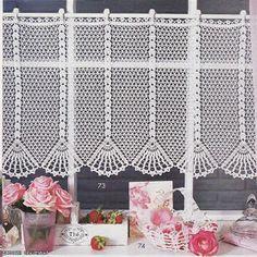 Filet häkeln Gardine - filet crochet curtain