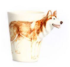 Siberian Husky Mug - Brown