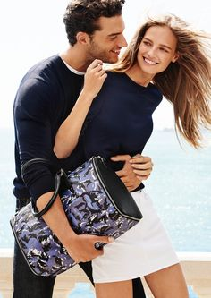 Ine Neefs and Aurelien Muller star in Furla's spring-summer 2016 campaign