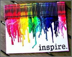Tableau en Crayola fondus