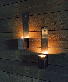 Väggljushållare för värmeljus.  Pris 175kr/st eller 300kr/2.  Frakt tillkommer. Bedtällnings vara