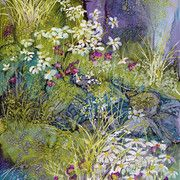 The Garden Party:  Alcohol ink on Yupo by Carol Rasmussen