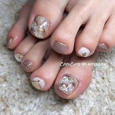 Best Acrylic Nails Part 12 Pedicure Designs, Pedicure Nail Art, Toe Nail Designs, Toe Nail Art, Pretty Toe Nails, Cute Toe Nails, Nail Swag, Classy Nails, Trendy Nails