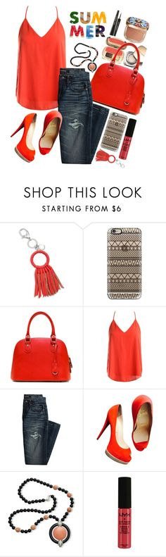 """""""Outside"""" by siwarchihawi ❤ liked on Polyvore featuring beauty, Dolce&Gabbana, Rebecca Minkoff, Casetify, Sans Souci, Canvas by Lands' End, Christian Louboutin, Kenneth Jay Lane and NYX"""