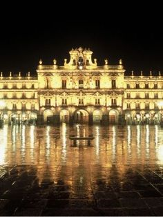 The Plaza Mayor in Salamanca, Spain. Places Around The World, Oh The Places You'll Go, Places To Travel, Places To Visit, Around The Worlds, Spain Images, Spanish Courses, Spain And Portugal, Spain Travel