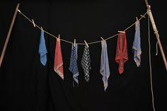 Washing Line and Hankies to hire from Tiggs Props OL26. Oliver.