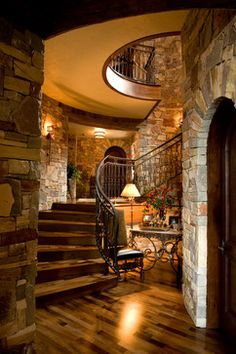 French Chateau - Mediterranean - Staircase - Minneapolis - Nor-Son, Inc.