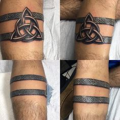 Trinity Celtic Knot Mens Armband Tattoos